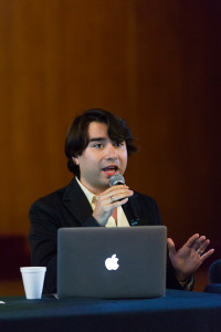 Antón Castellanos Usigli spoke about youth perspectives from around the world
